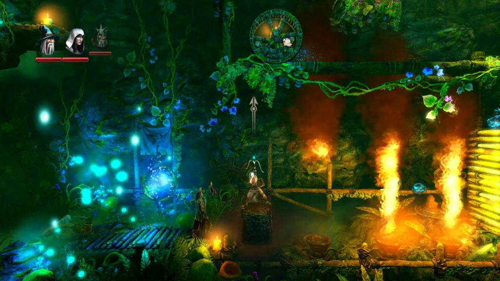 Trine 2 in couch co-op mode