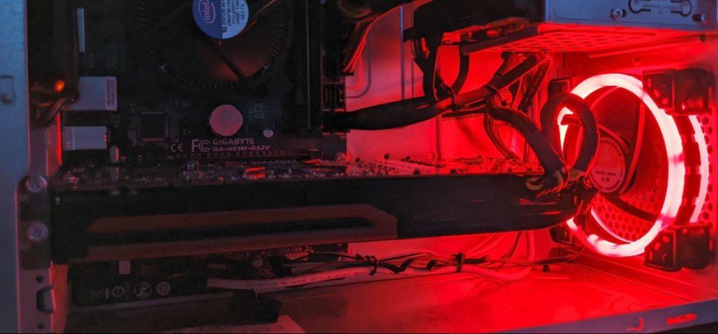 120MM PC Fan - Red Led